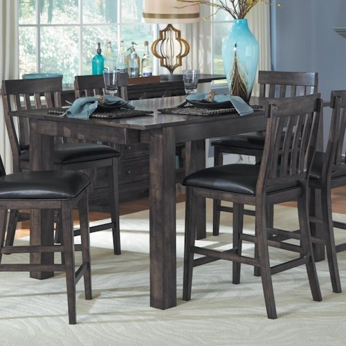 AAmerica Mariposa Gathering Leg Table with Two Leaves