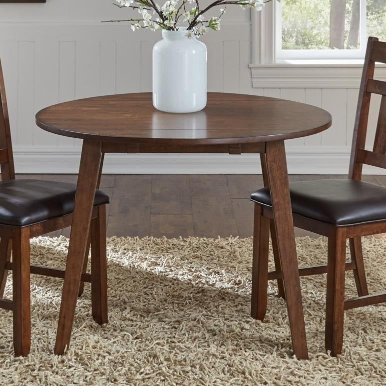 Image of: Aamerica Mason Round Drop Leaf Dining Table Conlin S Furniture Dining Tables