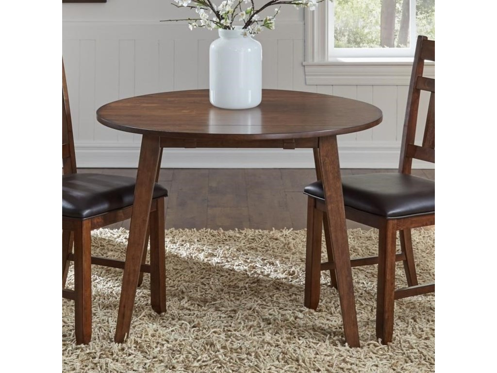 AAmerica MasonRound Drop Leaf Table