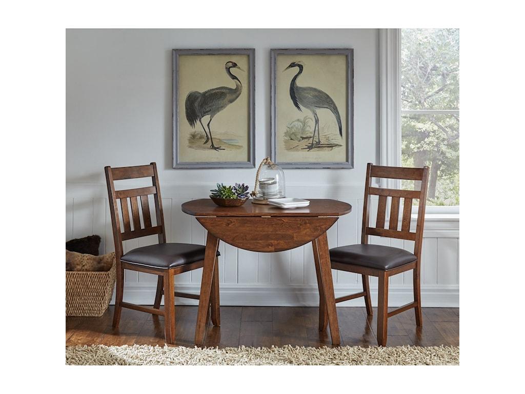 AAmerica MasonRound Drop Leaf Table