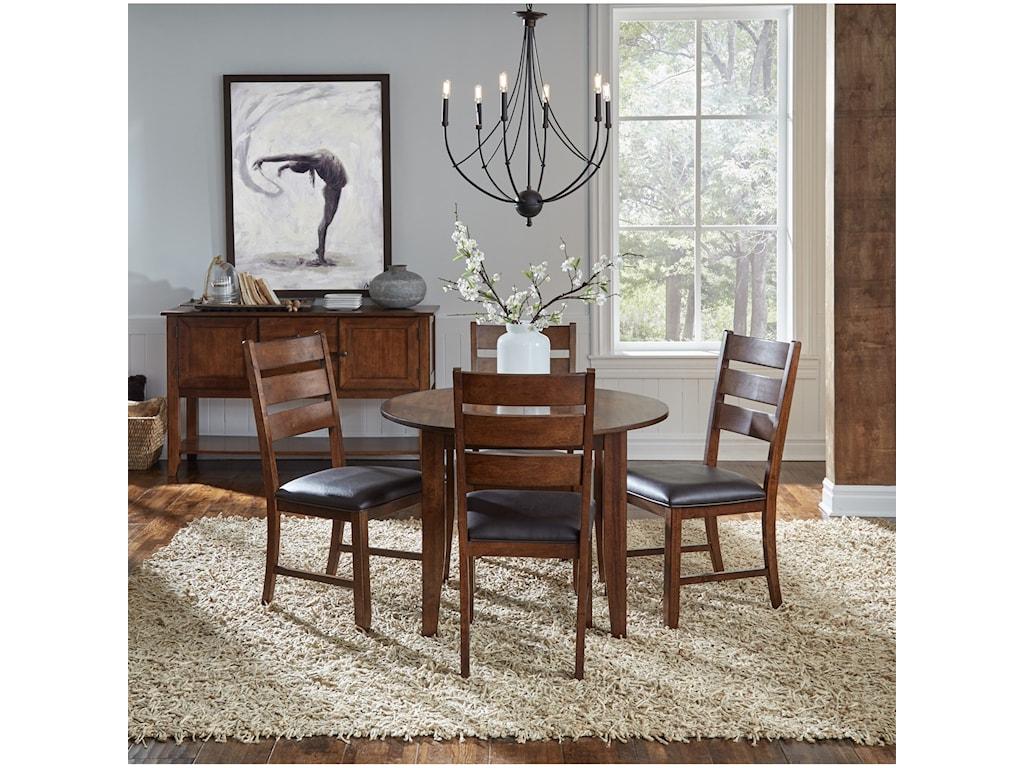 AAmerica MasonOval Leg Table with Leaf