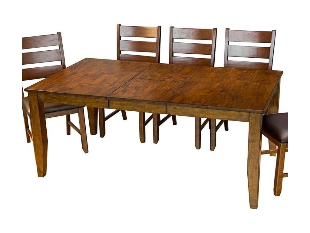 AAmerica Mason Rectangular Butterfly Leaf Dining Table