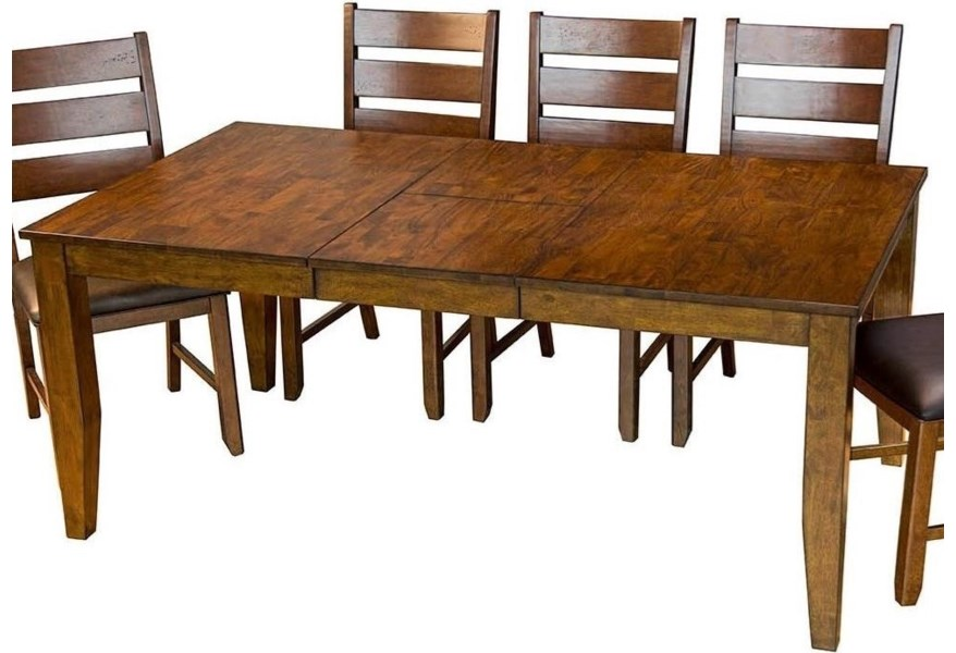 Mason Rectangular Butterfly Leaf Dining Table by AAmerica at Johnny Janosik