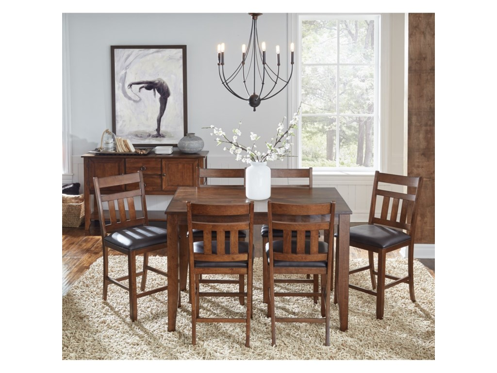 AAmerica Mason7 Piece Gathering Height Dining Set