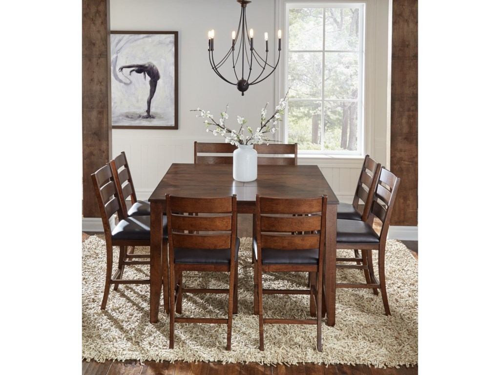 AAmerica Mason 9 Piece Gathering Height Table And Chair Dining Set