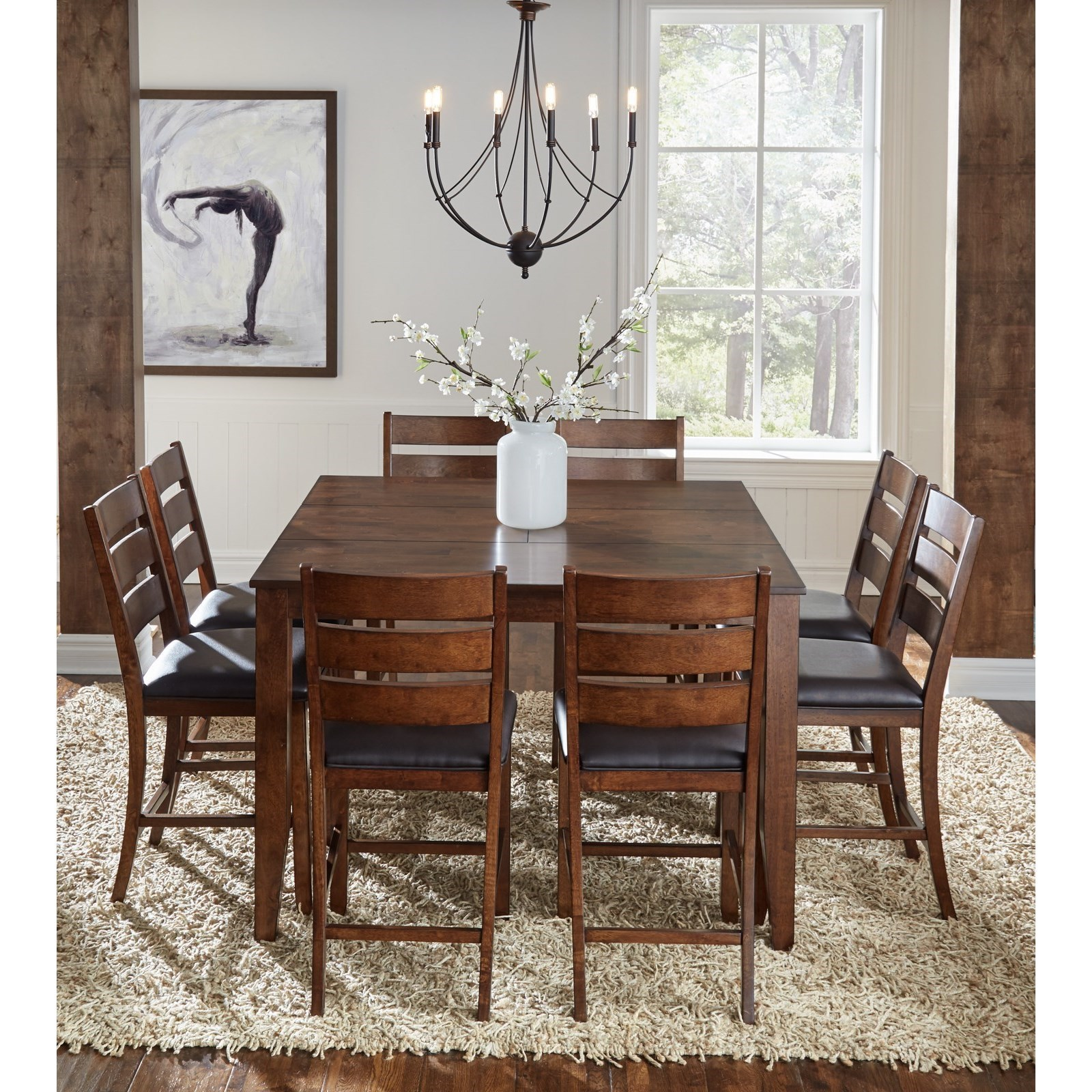 Mason 9 Piece Gathering Height Table And Chair Dining Set By AAmerica