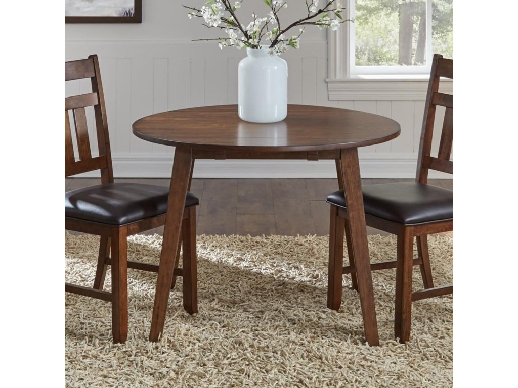 Mason Round Drop Leaf Dining Table by AAmerica at Gill Brothers Furniture