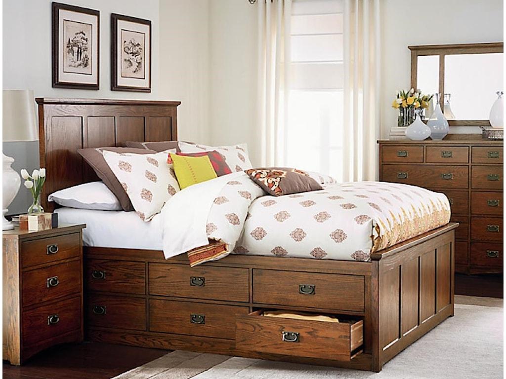 AAmerica Standard Mission4-Piece Queen Bedroom Group