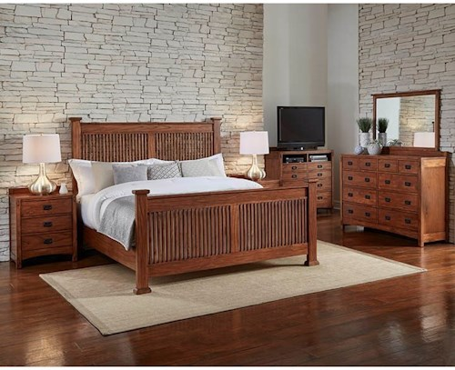 AAmerica Mission Hill California King Bedroom Group