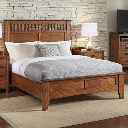 AAmerica Mission Hill Queen Low Profile Panel Bed