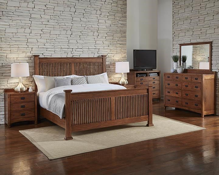 AAmerica Mission HillQueen Slat Bed