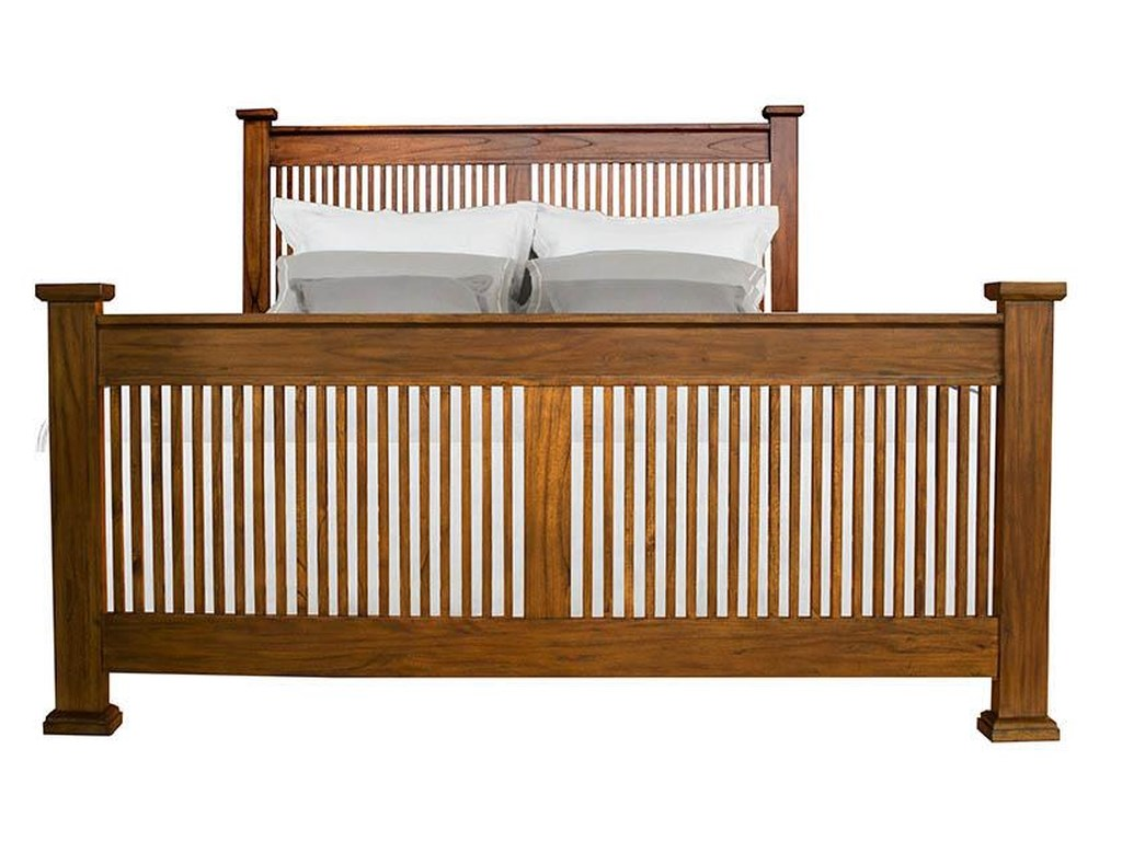 AAmerica Mission HillKing Slat Bed