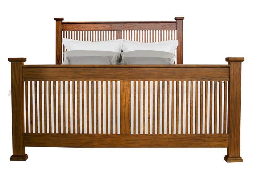 AAmerica Mission HillKing Slat Bed