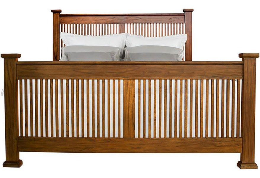 Aamerica Mission Hill Mih Ha 5 14 0 King Slat Bed With Posts Home Furnishings Direct Panel Beds