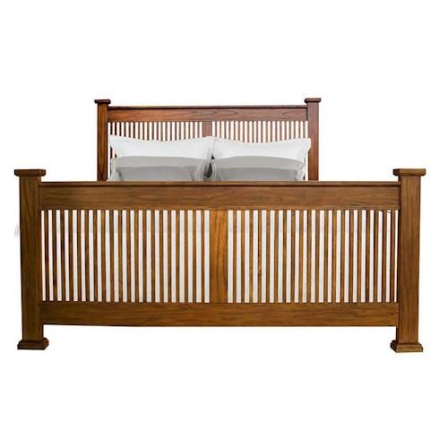 AAmerica Mission Hill California King Slat Bed with Posts