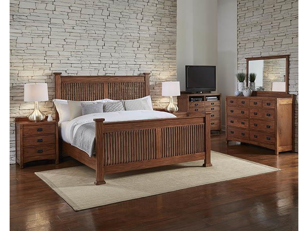 AAmerica Mission HillCalifornia King Slat Bed