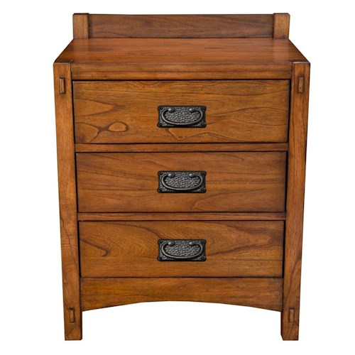 AAmerica Mission Hill Three Drawer Nightstand