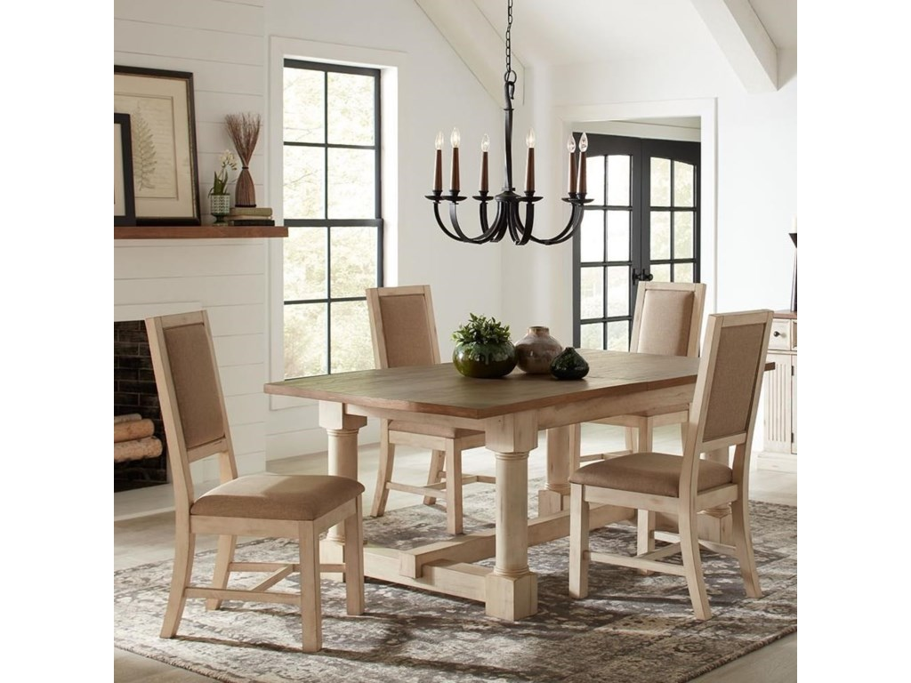 AAmerica Monastery Cottage Style Solid Wood 5-Piece Dining ...