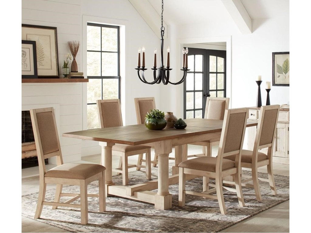 AAmerica Monastery Cottage Style Solid Wood 7-Piece Dining ...