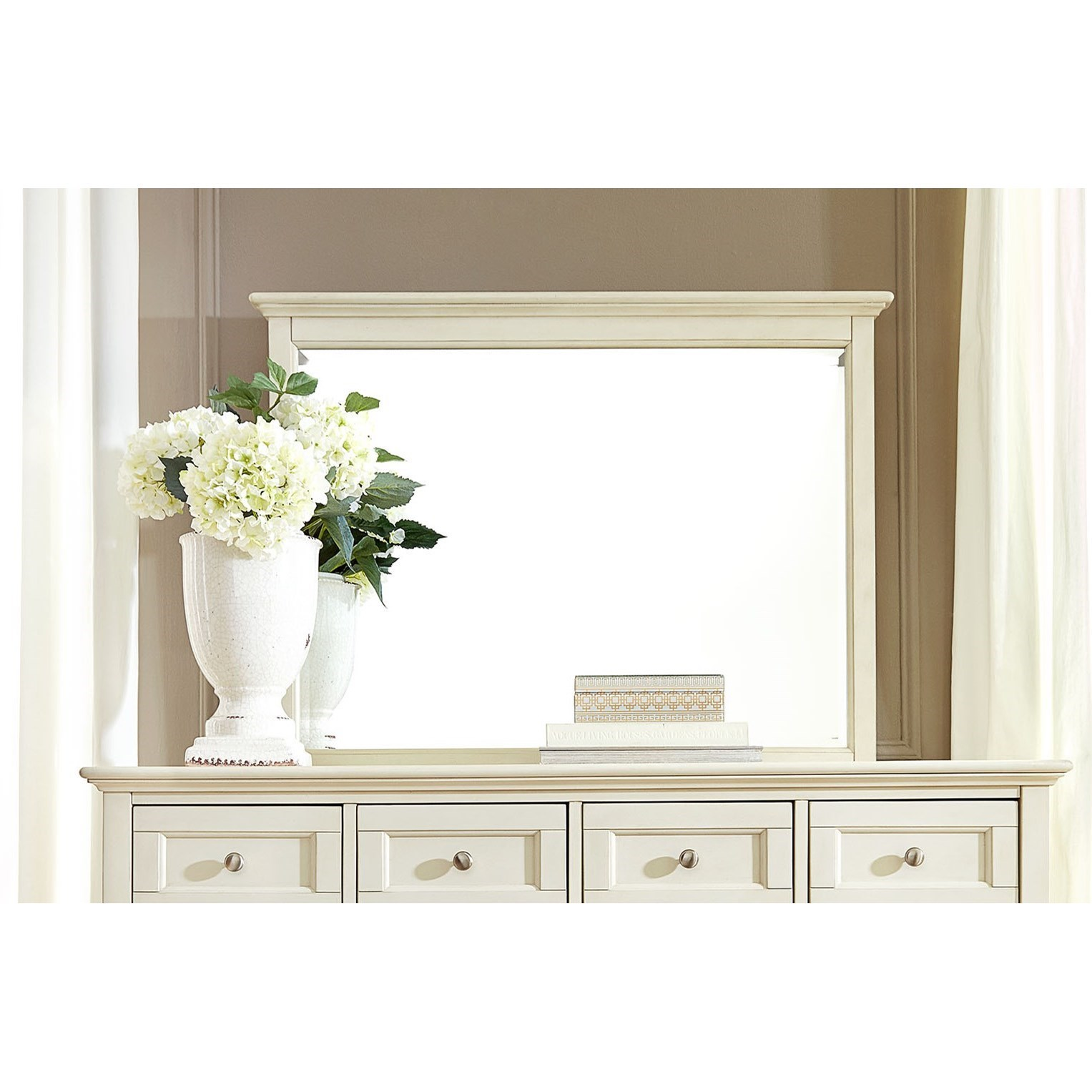 Cottage Style Solid Wood Master Mirror