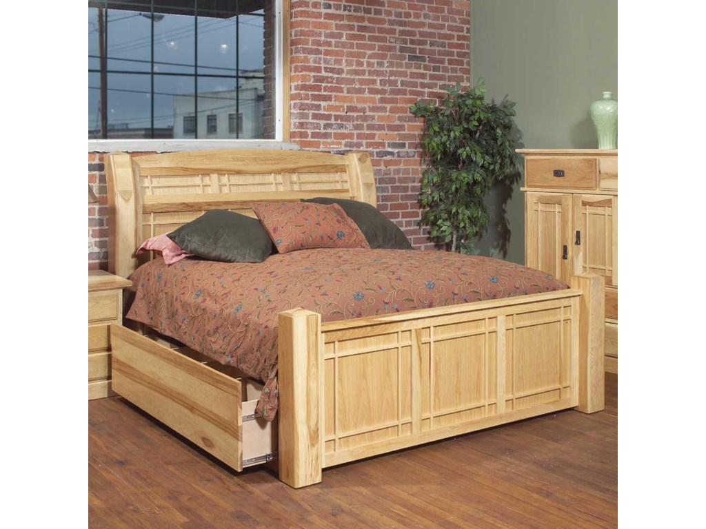 AAmerica MastelKing Arch Panel Bed W/Storage Box