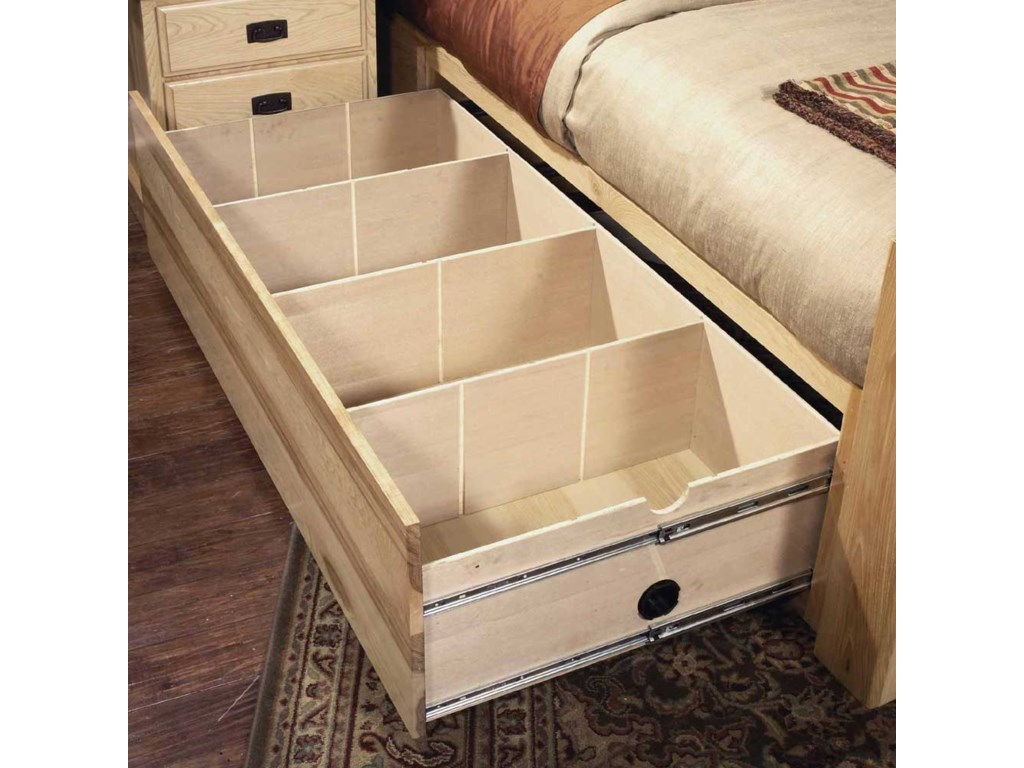 AAmerica Amish HighlandsKing Arch Panel Bed W/Storage Box
