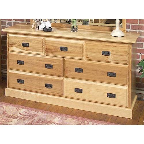 AAmerica Amish Highlands 7 Drawer Dresser