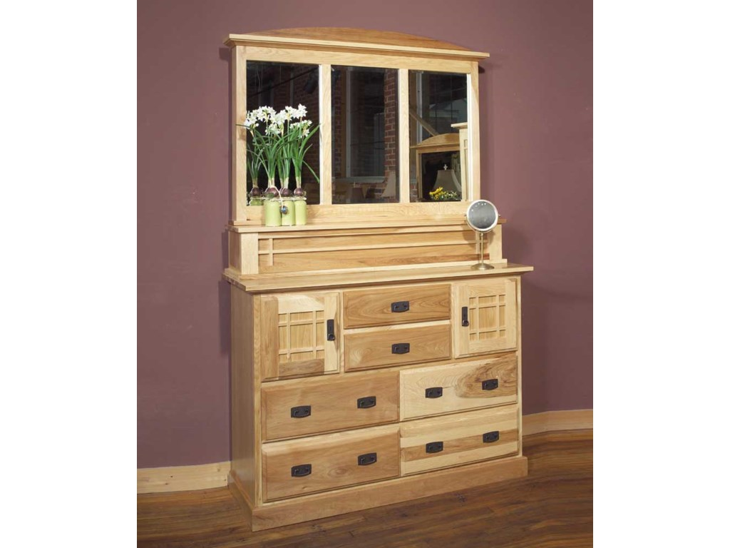 AAmerica Amish HighlandsMule Chest & Dresser Mirror
