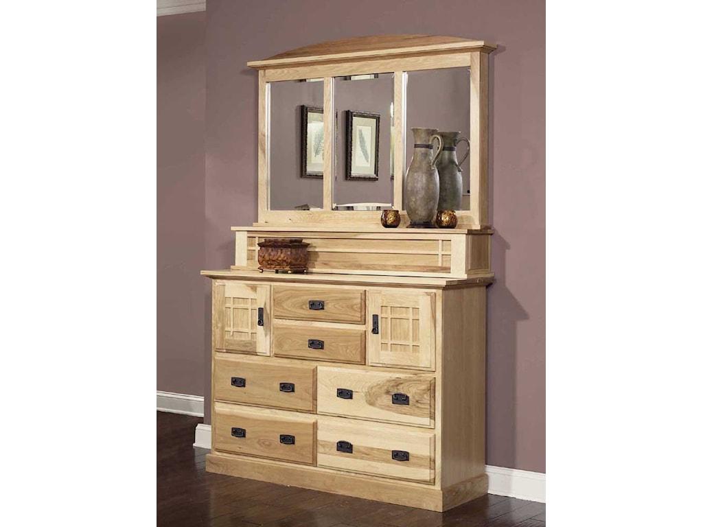 AAmerica Amish HighlandsMule Chest & Dresser Mirror