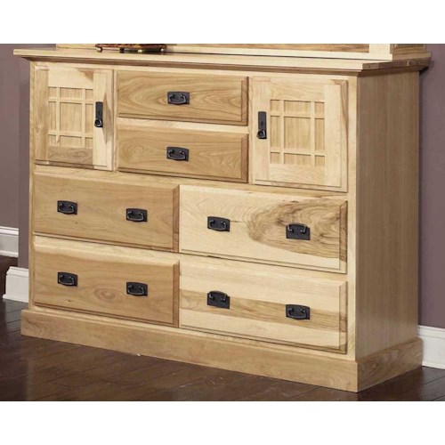 AAmerica Amish Highlands Solid Hickory Mule Chest