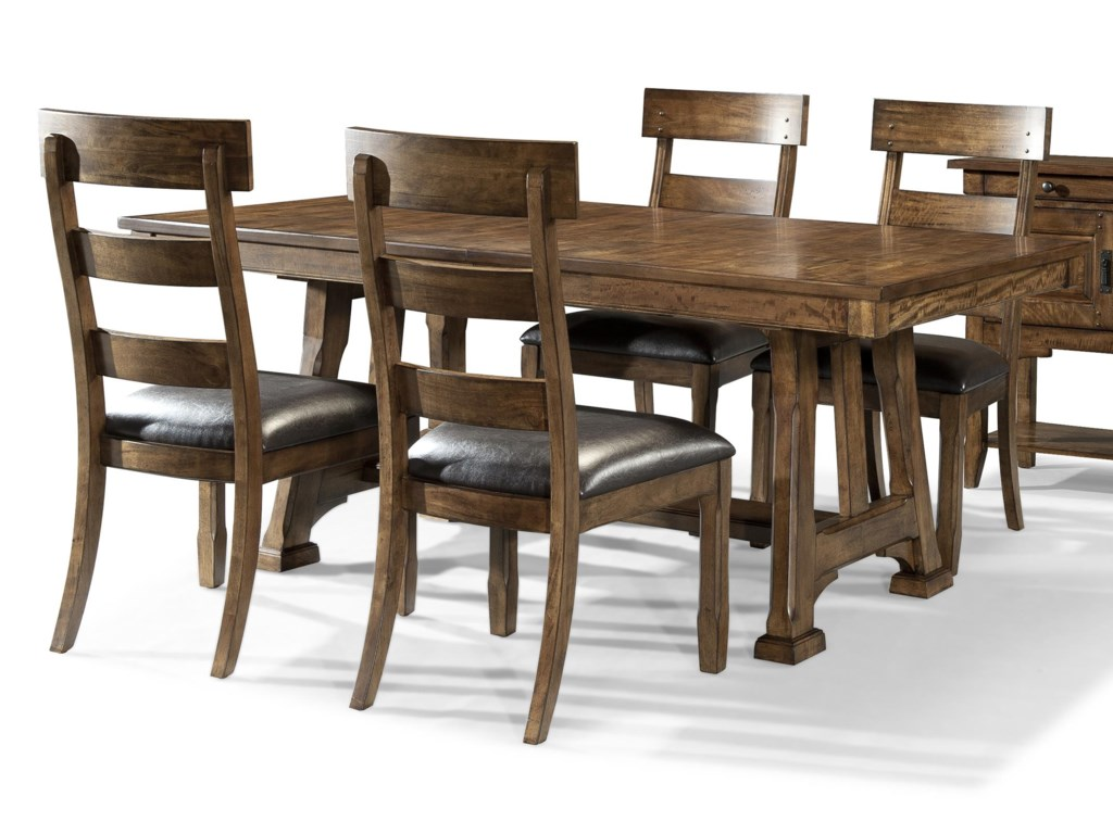 AAmerica Ozark5 Piece Trestle Table and Chair Set