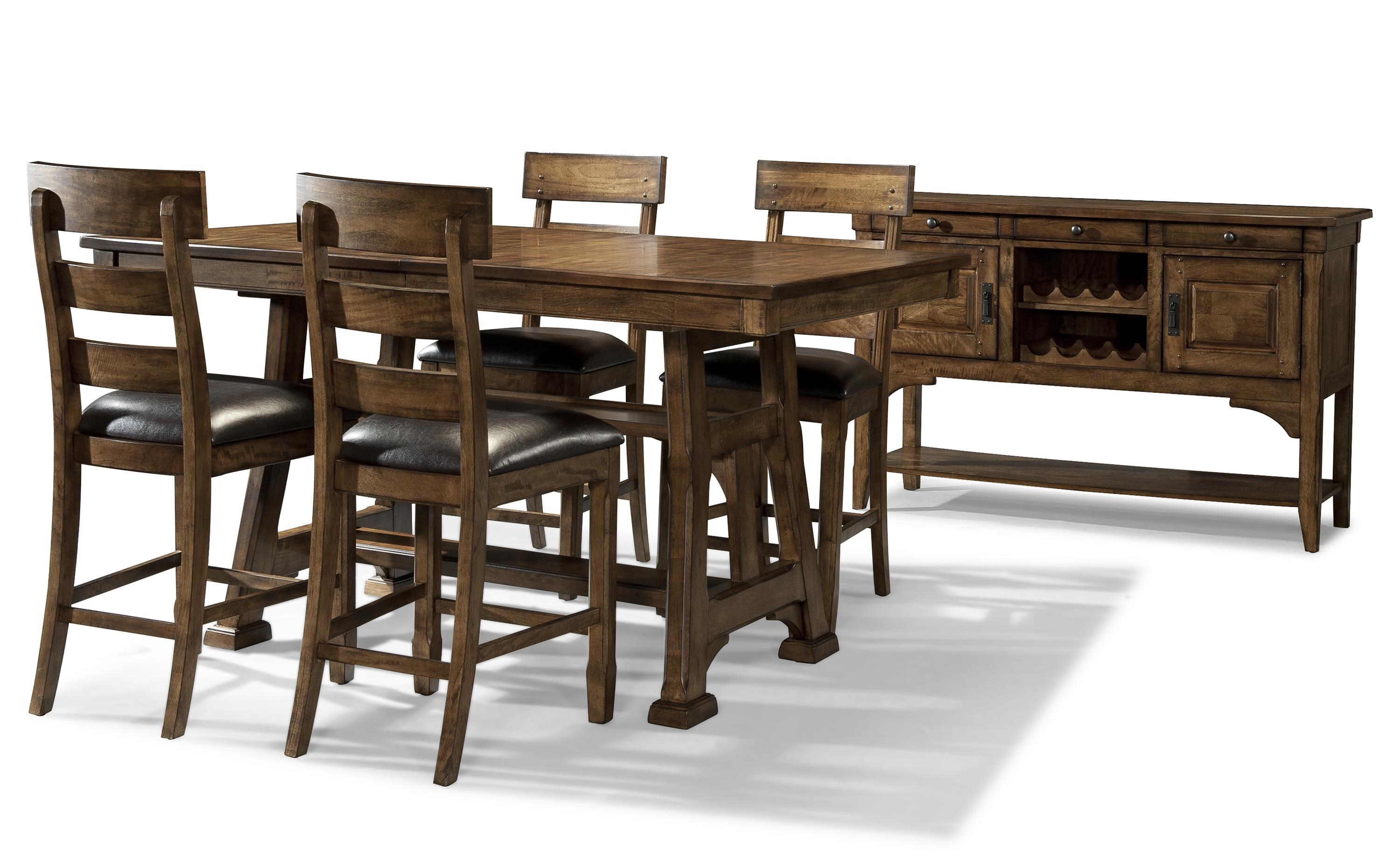 Casual Gathering Height Dining Room Group