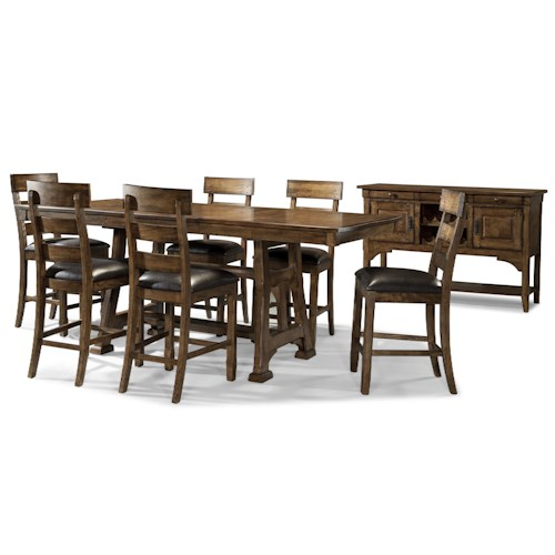 AAmerica Ozark Casual Gathering Height Dining Room Group