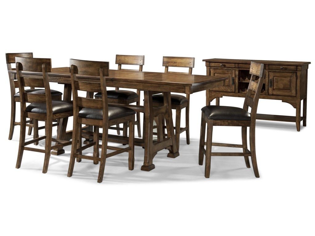 AAmerica OzarkFormal Gathering Height Dining Room Group