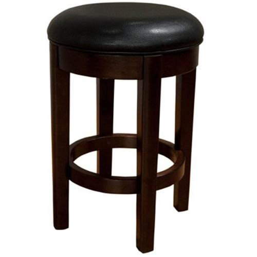 Parson Chairs 24 Black Backless Swivel Barstool Walkers
