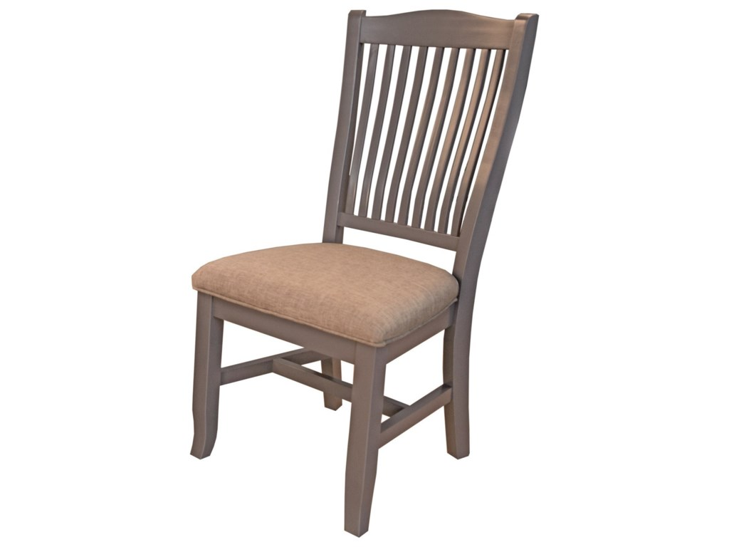 AAmerica Port TownsendSlatback Side Chair with Upholstered Seat
