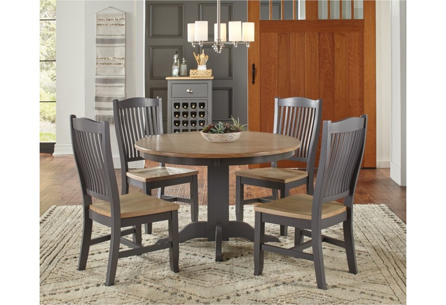 Aamerica Port Townsend Pot Sp 6 25 0 48 Round Dining Table