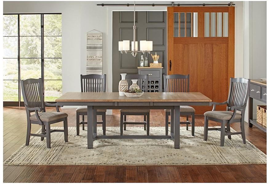 Aamerica Port Townsend Rectangular Trestle Dining Table