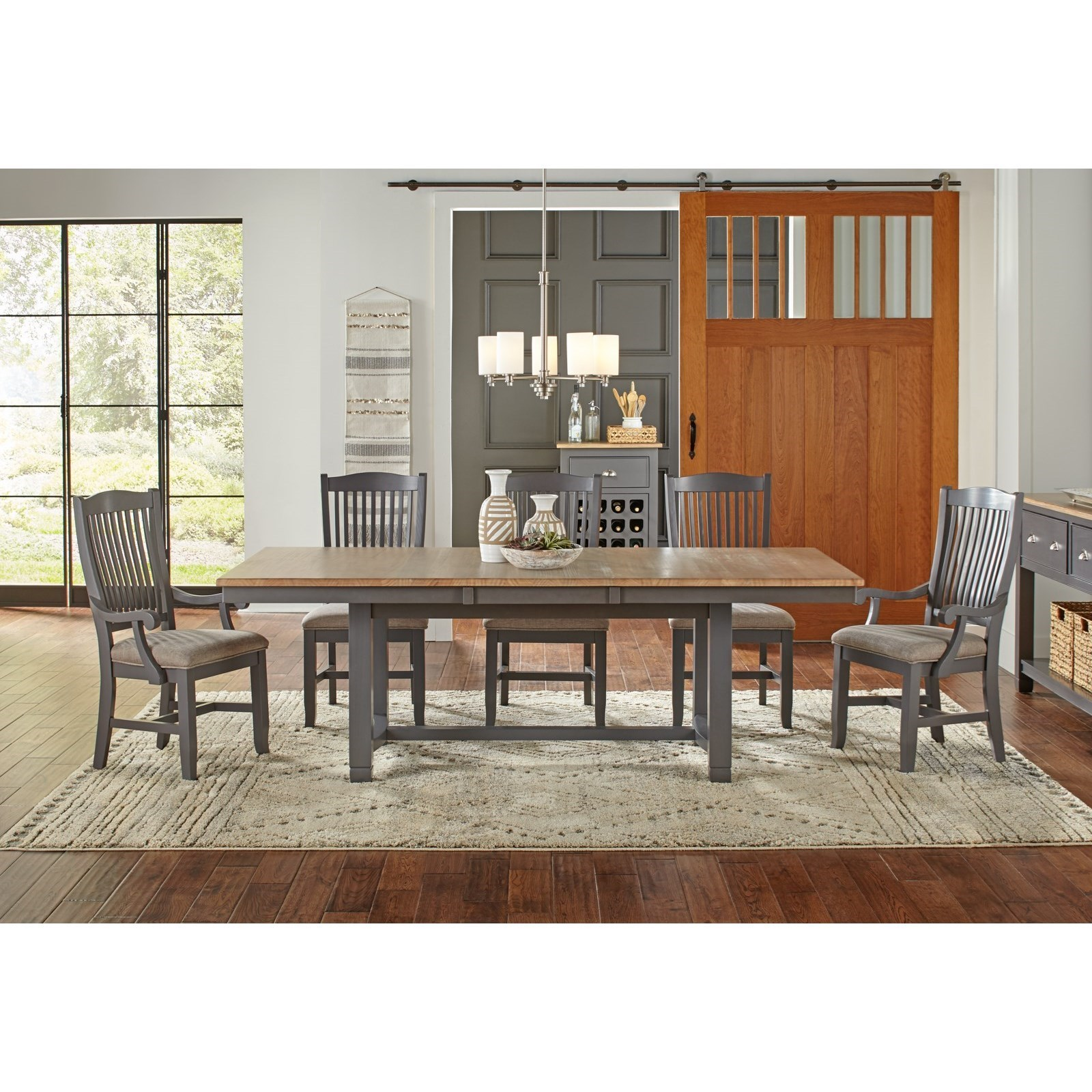 AAmerica Port Townsend Rectangular Trestle Dining Table   Coconis Furniture  U0026 Mattress 1st   Dining Tables