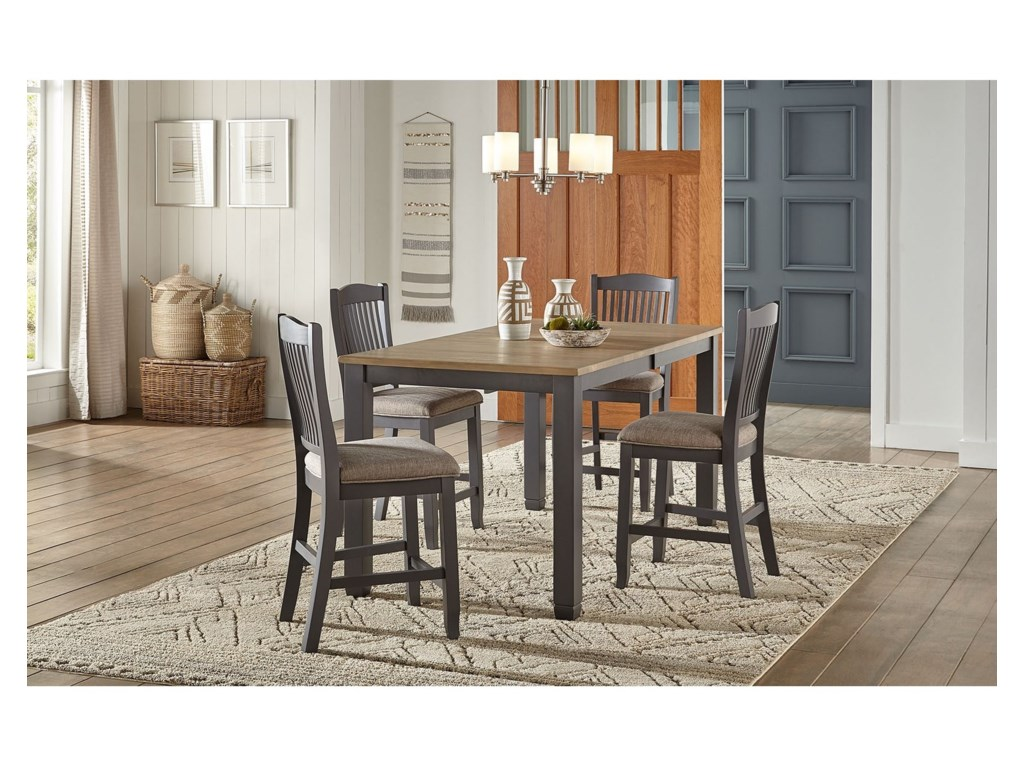 AAmerica Port Townsend5-Piece Gathering Height Table and Chair Set