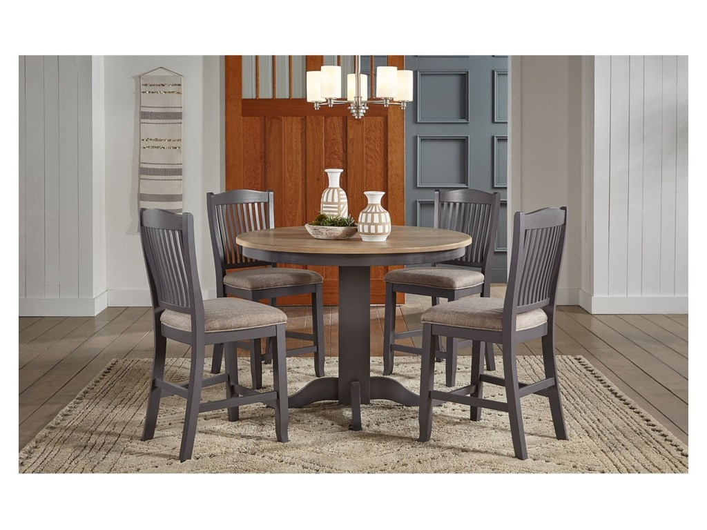 AAmerica Port Townsend5-Piece Round Gathering Table and Chair Set