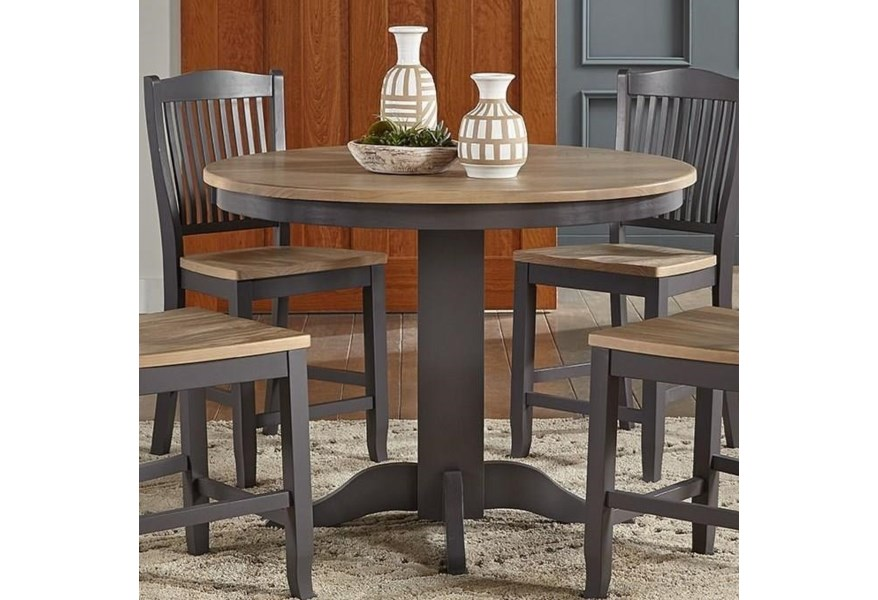Aamerica Port Townsend Gather Height Round Pedestal Table