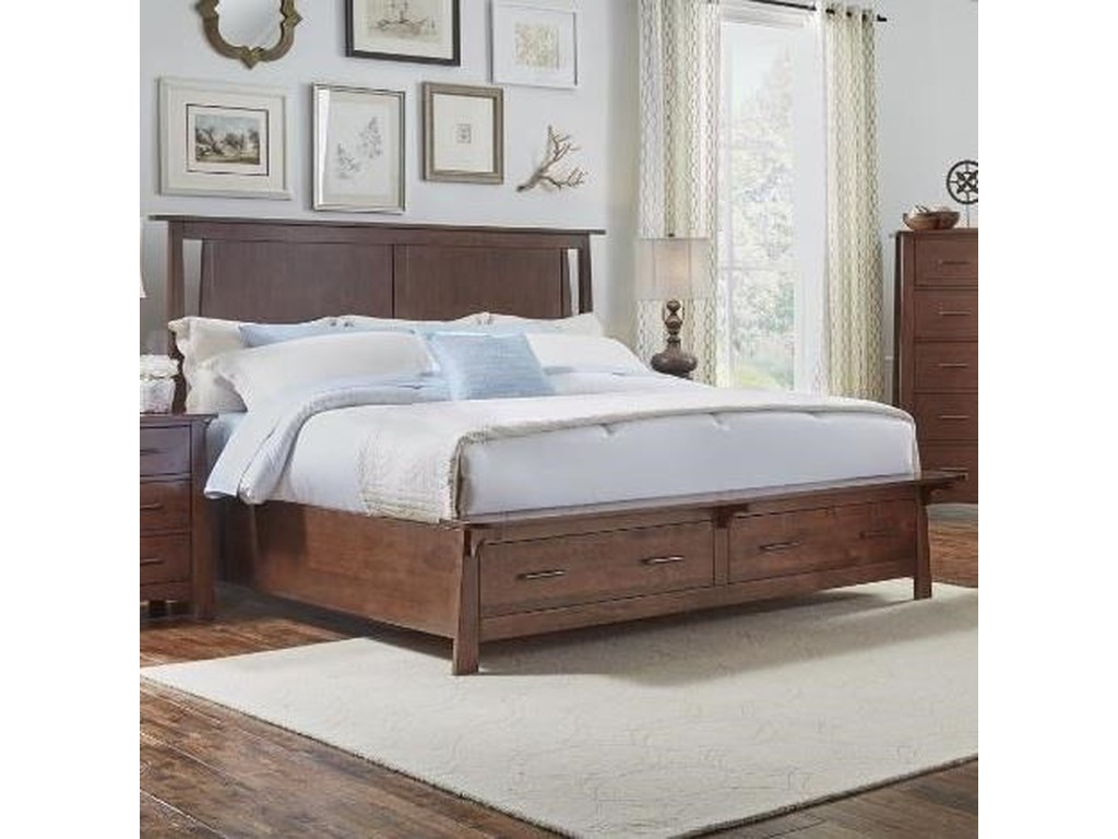 AAmerica SodoQueen Panel Storage Bed