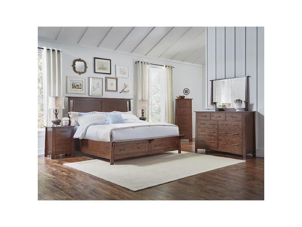 AAmerica SodoKing Panel Storage Bed