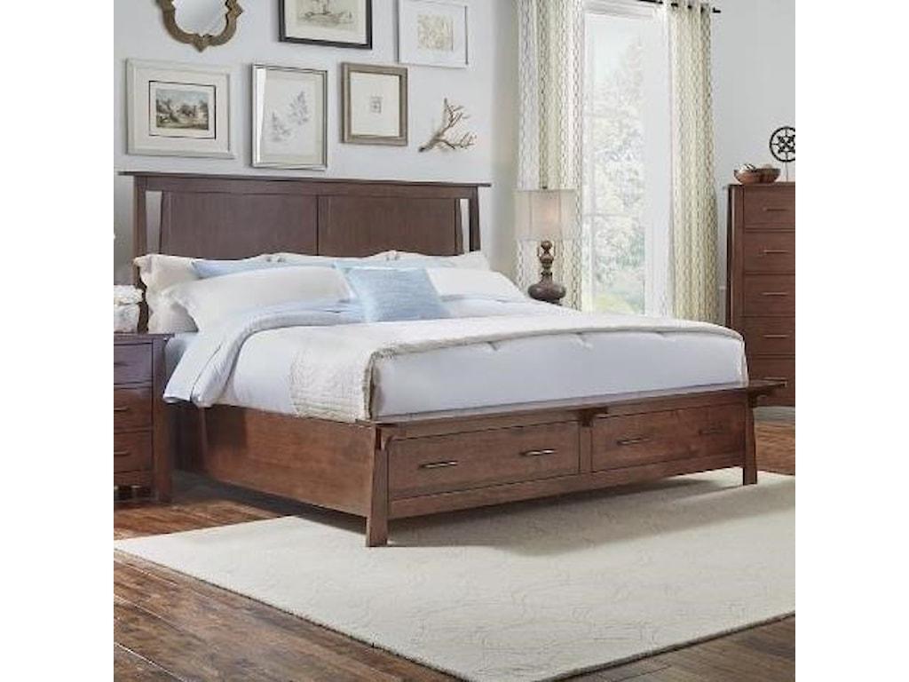 AAmerica SodoCalifornia King Panel Storage Bed