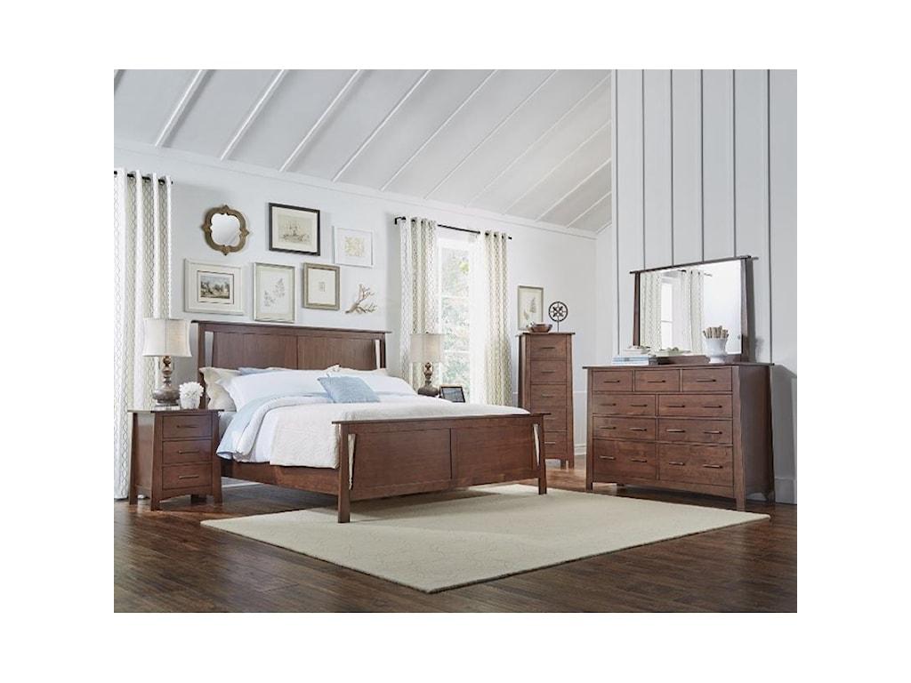 AAmerica SodoCalifornia King Panel Bedroom Group