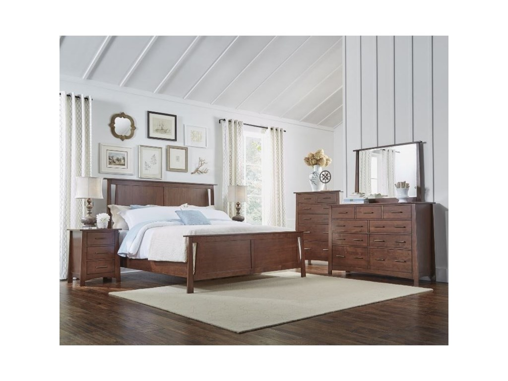 AAmerica SodoKing Panel Bedroom Group