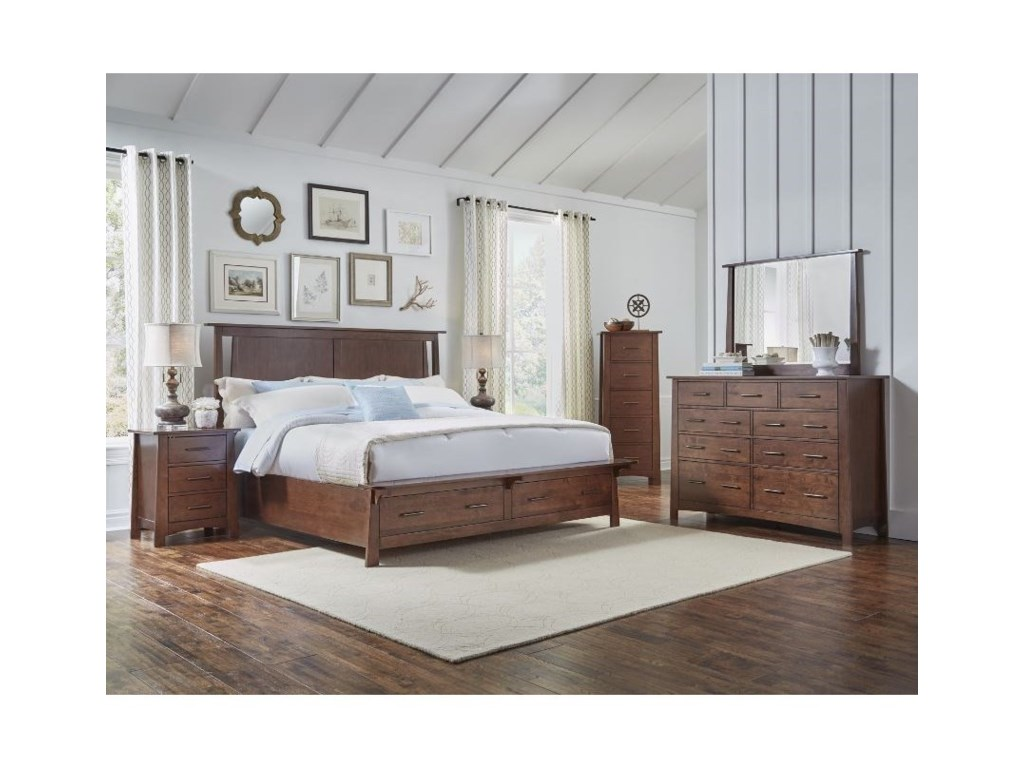 AAmerica SodoKing Panel Storage Bedroom Group