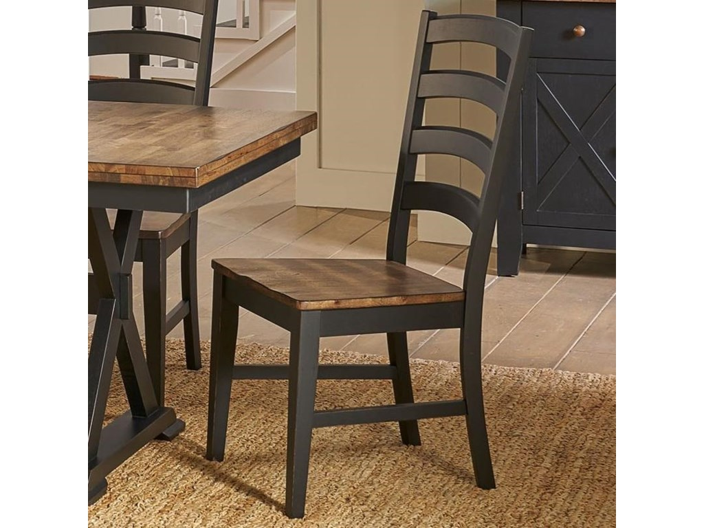 AAmerica Stone CreekLadder Back Side Chair