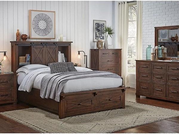 6 Piece Queen Rustic Bedroom Group